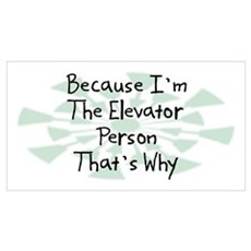 Because Elevator Person Wall Art Framed Print