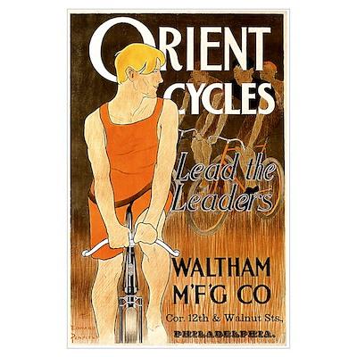 Orient Cycles Art Nouveau Wall Art Poster