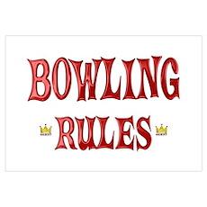 Bowling Rules Wall Art Poster