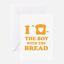 HG Boy with the bread Greeting Card