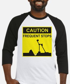 Caution - Frequent Stops Baseball Jersey