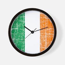 Vintage Irish Flag Wall Clock