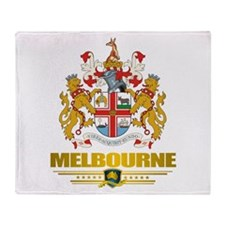"""Melbourne COA"" Throw Blanket"