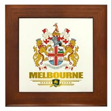 """Melbourne COA"" Framed Tile"