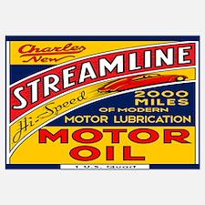 Streamline Motor Oil Wall Art