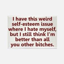 Self-Esteem Issues Rectangle Magnet
