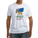 Australia Kangaroo Fitted T-Shirt