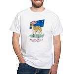 Australia Kangaroo White T-Shirt