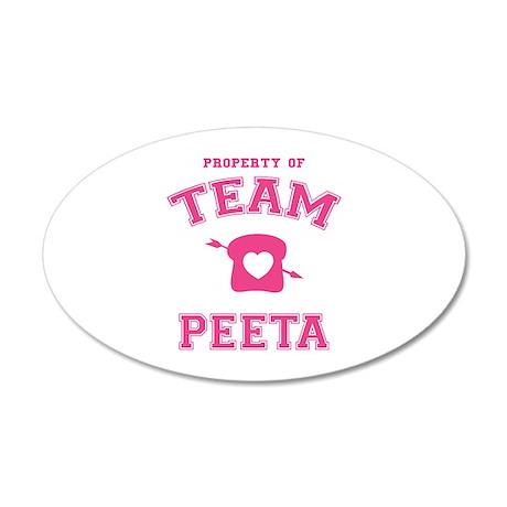HG Team Peeta 22x14 Oval Wall Peel