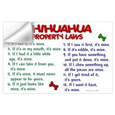 Chihuahua Property Laws 2 Wall Art Wall Decal