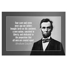 Abe Lincoln - Gettysburg Address Wall Art Framed Print
