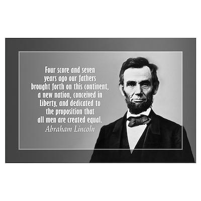 Abe Lincoln - Gettysburg Address Wall Art Poster