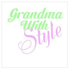 Grandma With Style Wall Art Framed Print