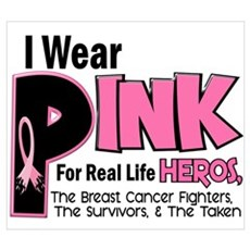 I Wear Pink For Fighters Survivors Taken 19 Framed Canvas Art