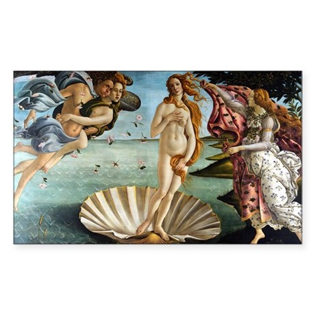 Botticelli Birth of Venus Sticker (Rectangle)