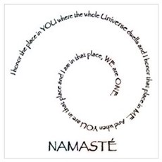 Meaning of Namaste Wall Art Canvas Art