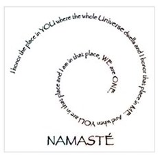 Meaning of Namaste Wall Art Poster