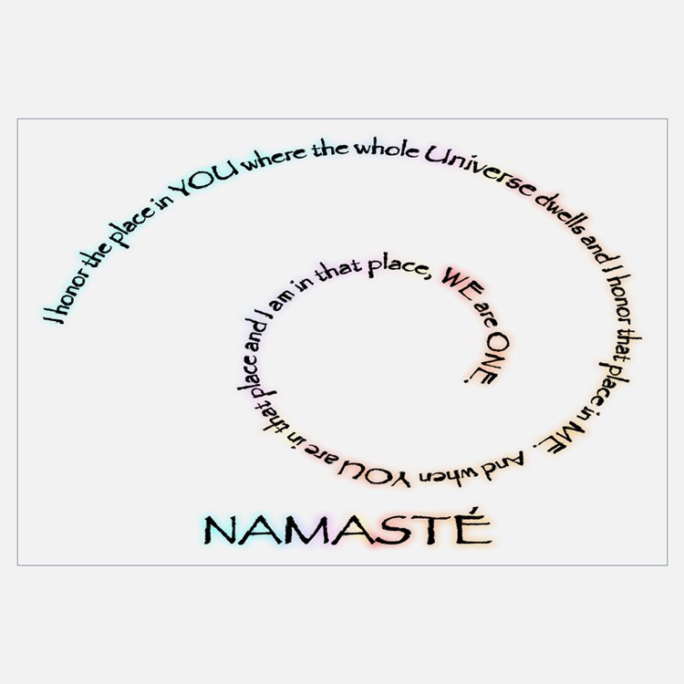 Meaning Of Wall Decor : Namaste wall art decor
