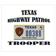 Texas Highway Patrol Wall Art Poster