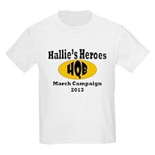 Hallie's Kids March Campaign Logo 2 Light T-Shirt