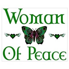Woman Of Peace Wall Art Framed Print