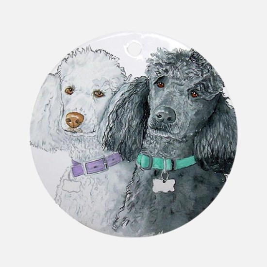 Two Poodles Ornament (Round)