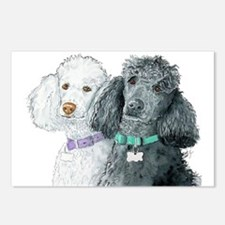 Two Poodles Postcards (Package of 8)