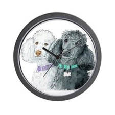 Two Poodles Wall Clock