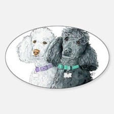 Two Poodles Decal