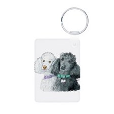 Two Poodles Keychains