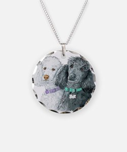 Two Poodles Necklace