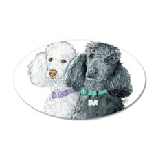 Two Poodles Wall Decal