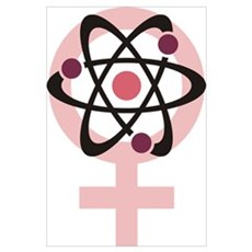Female Scientist Wall Art Poster