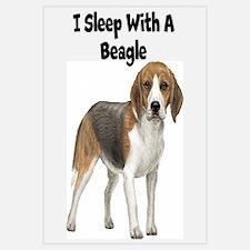 I Sleep With A Beagle Wall Art