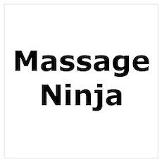 Massage Ninja Wall Art Poster