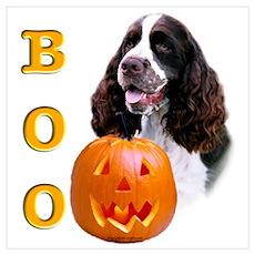 Halloween English Springer Boo Wall Art Poster