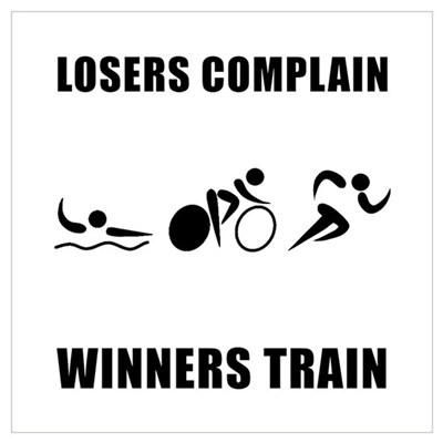 Triathlon Winners Train Wall Art Poster