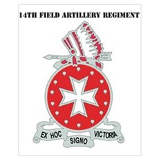 DUI - 1st Bn - 14th FA Regt with Text Mini Poster Poster