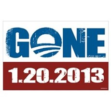GONE 1.20.2013 Wall Art Poster