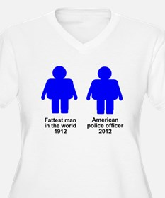 Fat American Police Officer T-Shirt