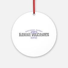 Hawaii Volcanoes Nat Park Ornament (Round)