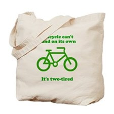 Bicycle Stand On Its Own Tote Bag