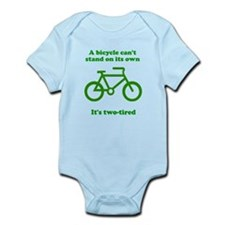 Bicycle Stand On Its Own Infant Bodysuit