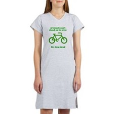Bicycle Stand On Its Own Women's Nightshirt