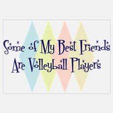 Volleyball Players Friends Wall Art