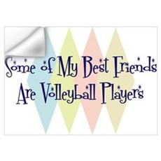 Volleyball Players Friends Wall Art Wall Decal