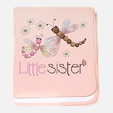 Little Sister Dragonfly baby blanket