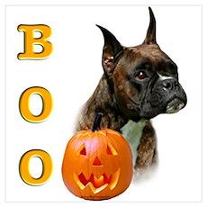 Halloween Boxer Boo Wall Art Poster