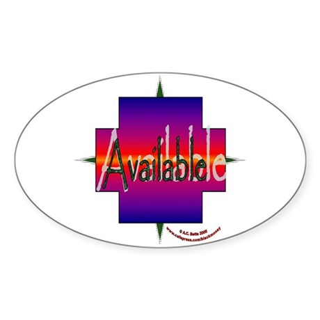 Available Oval Sticker