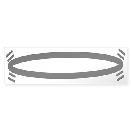 Pedestrian Hula Hooping, SCI Sticker (Bumper)